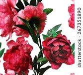 art vintage monochrome... | Shutterstock . vector #267351890