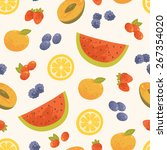vector sweet summer background. ... | Shutterstock .eps vector #267354020