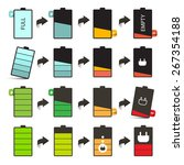 battery life icons set isolated ...