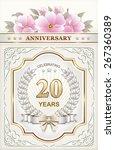 anniversary card 20 years | Shutterstock .eps vector #267360389