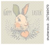 greeting card with with  easter ... | Shutterstock .eps vector #267360470