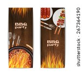 bbq grill party vertical...   Shutterstock .eps vector #267364190