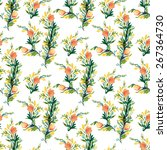 seamless vector pattern with... | Shutterstock .eps vector #267364730