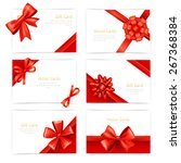 gift paper cards set with red... | Shutterstock .eps vector #267368384