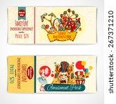 amusement fun festival park... | Shutterstock .eps vector #267371210