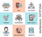 call center design concept set... | Shutterstock .eps vector #267371264