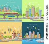 city transport design concept... | Shutterstock .eps vector #267372308