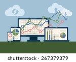 seo data analysis using modern... | Shutterstock .eps vector #267379379