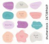 colorful labels  speech bubbles ...   Shutterstock .eps vector #267389669