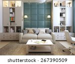 modern children's room  3d... | Shutterstock . vector #267390509