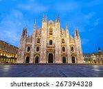 duomo di milano  milan...   Shutterstock . vector #267394328