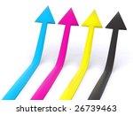 four cmyk pointers. 3d arrow | Shutterstock . vector #26739463