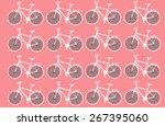 bicycle cycle wheel bike sport... | Shutterstock .eps vector #267395060