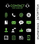 vector flat icon set   contact