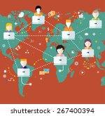 social media avatar network... | Shutterstock . vector #267400394