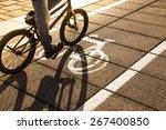 bike path with a symbol of bike....