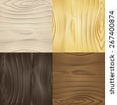 Set Of Vector Seamless Wood...