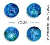 vector yoga illustration. set... | Shutterstock .eps vector #267401528