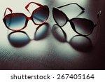 Fashionable Sunglasses. Vintag...