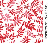 red  flowery branches on a... | Shutterstock .eps vector #267414584