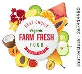 farm fresh fruits emblem | Shutterstock .eps vector #267414980