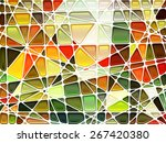 abstract geometric mosaic... | Shutterstock .eps vector #267420380