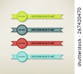 vintage elements set | Shutterstock .eps vector #267420470