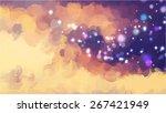 sparkle blue brush strokes... | Shutterstock .eps vector #267421949
