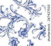 Vector Watercolor Blue Texture...