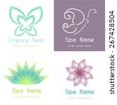 Set Of Spa Icons On Different...