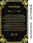 vintage vector pattern. hand... | Shutterstock .eps vector #267430838