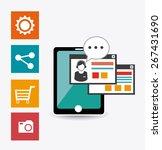 online media design over white... | Shutterstock .eps vector #267431690