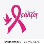 cancer design over white... | Shutterstock .eps vector #267437378
