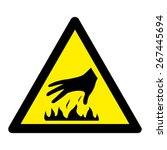 caution hot surface | Shutterstock .eps vector #267445694
