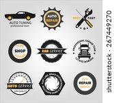 Set Of Car Service Labels ...