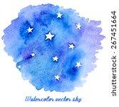 vector abstract watercolor...   Shutterstock .eps vector #267451664