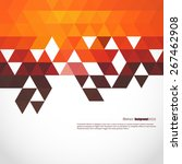 abstract  geometric background... | Shutterstock .eps vector #267462908
