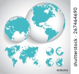 world map  vector illustration. | Shutterstock .eps vector #267464690