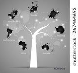 world map  vector illustration. | Shutterstock .eps vector #267464693