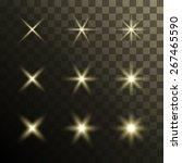 set of glowing stars. vector... | Shutterstock .eps vector #267465590