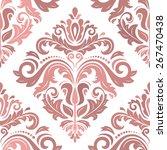 damask seamless pattern. fine... | Shutterstock .eps vector #267470438