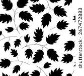 leaf vector black and white... | Shutterstock .eps vector #267472883