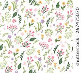 floral seamless pattern | Shutterstock .eps vector #267475070