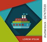 transportation ferry flat icon... | Shutterstock .eps vector #267475520