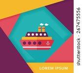 transportation ferry flat icon... | Shutterstock .eps vector #267475556