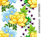 abstract elegance seamless... | Shutterstock .eps vector #267488600