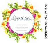 invitation with floral... | Shutterstock .eps vector #267490520