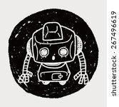 doodle robot   Shutterstock .eps vector #267496619