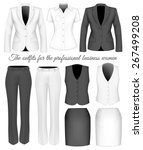 the outfits for the... | Shutterstock .eps vector #267499208