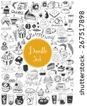 big doodle set   coffee  tea ... | Shutterstock .eps vector #267517898